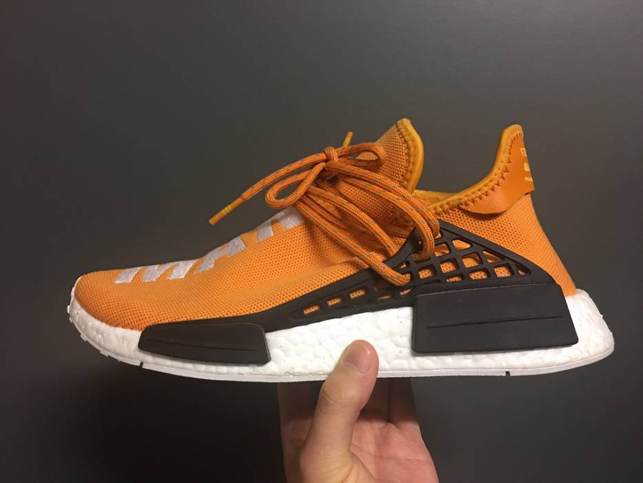 c87a2c691 Adidas Adidas Pharrell Williams NMD Human Race Tangerine Size US 7   EU 40