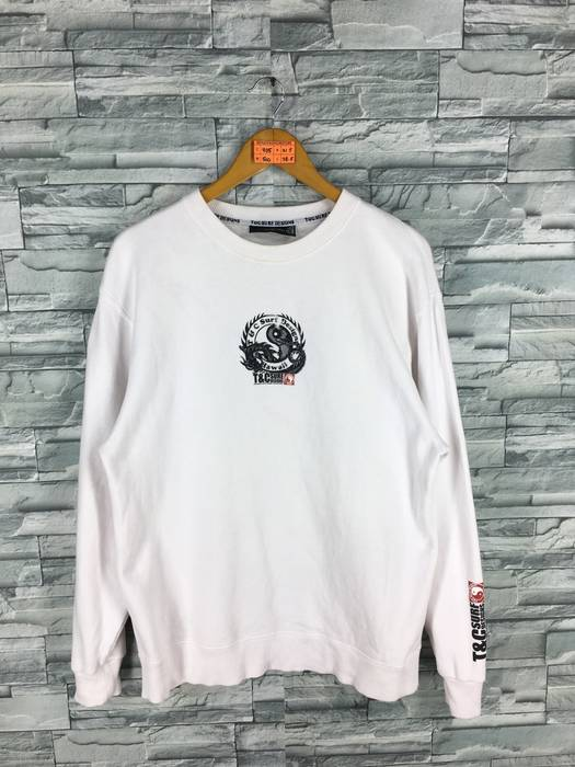42406810d8f73 Vintage T C SURF Design Men Large Jumper White Crewneck Surfing Vintage 90 s  Hawaii Pipeline Aloha North