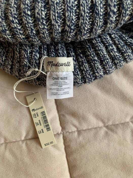 5b8103e16c24e J.Crew Blue Madewell Beanie Size one size - Hats for Sale - Grailed