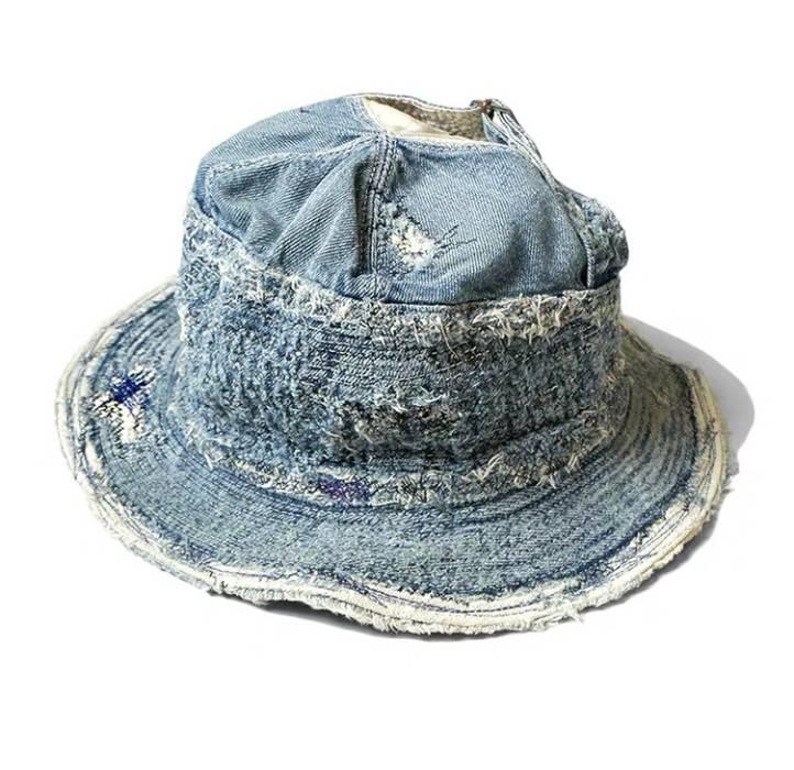 Kapital Kapital ripped denim buckle hat cap Size one size - Hats for ... 20e591a51dc