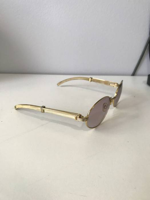 20dadf2a4dc6d Cartier Vintage Cartier White Buffalo Horn Sunglasses Size one size ...