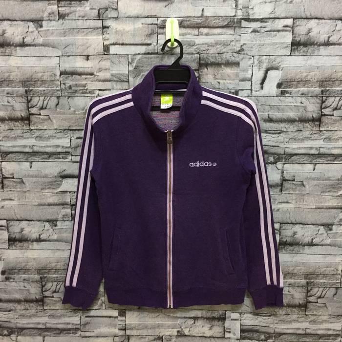 9fc3fc023b27 Adidas Adidas Jacket Track small logo stripe size M purple for women Size  US M