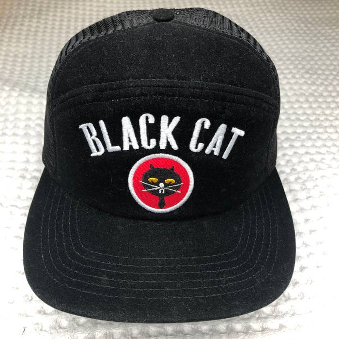 Supreme Black Cat SnapBack Size one size - Hats for Sale - Grailed d698fd53b52