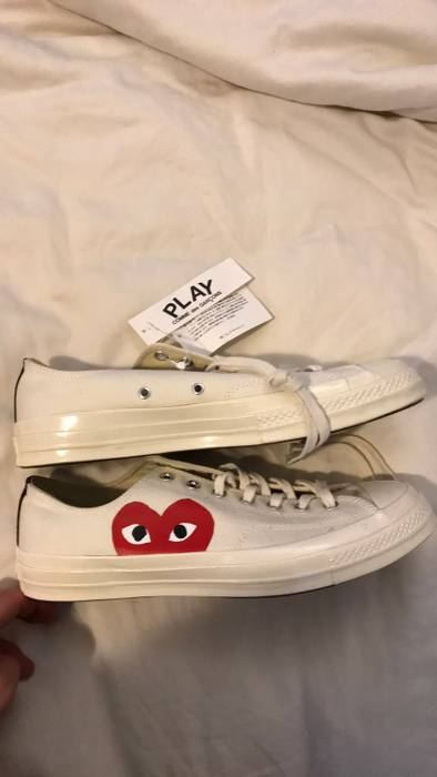 eda8c18db98b01 Converse CDG Play x Converse Chucks Low off white Size 11 - Low-Top ...