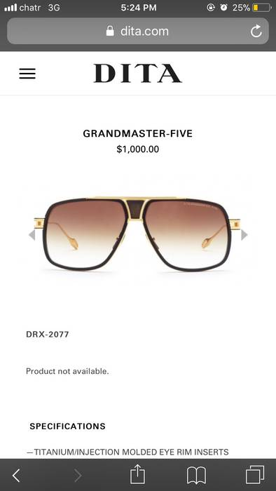 da82eb3ebf Dita Grand Master Five Size one size - Sunglasses for Sale - Grailed