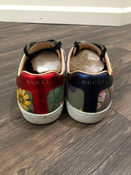 98e285b7474 Gucci Ace Flora Snake Size 12 - Low-Top Sneakers for Sale - Grailed