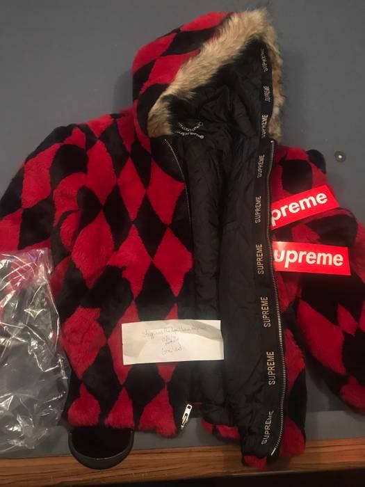 43c9aa76df8e Supreme Diamond Faux Fur Jacket Size l - Light Jackets for Sale ...