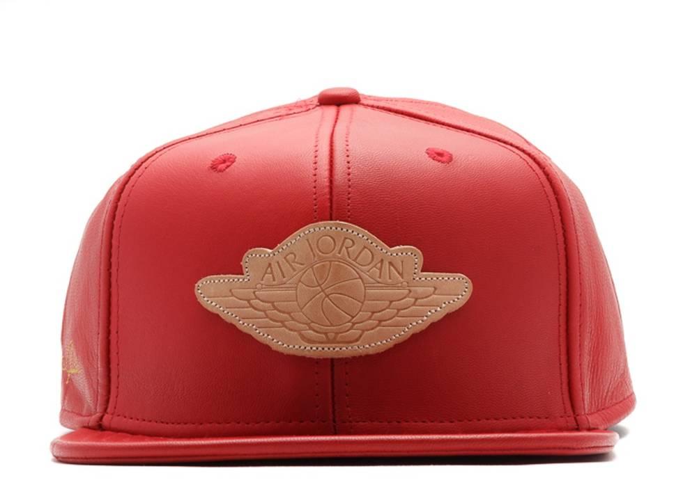 e0504b6cbef7f0 Jordan Brand Just Don x Jordan Cap (DS) - Red Lamb Leather w  Gold ...