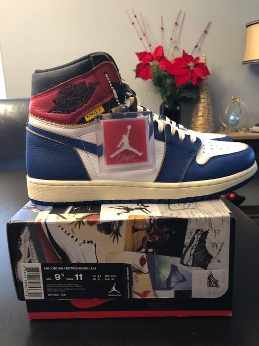 Jordan Brand Nike Air Jordan 1 X Union LA Storm Blue Size 9.5 - Hi ... d820cb823