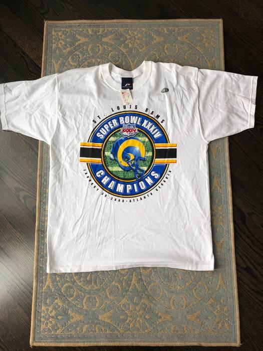 Vintage Brand New Vintage St. Louis LA Rams NFL T-shirt Tee Size L ... 7beda142e