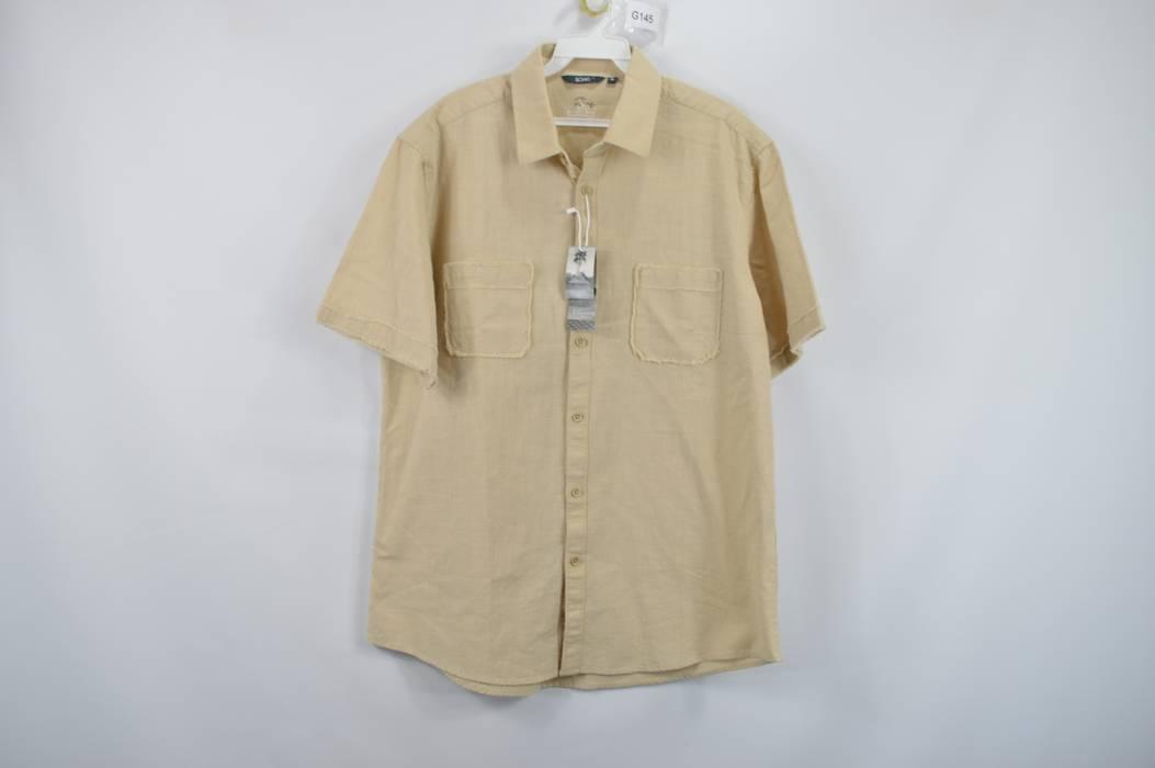 166e661367b Vintage. BOHIO BREEZE New Mens Medium Short Sleeve Button Up Front Casual  Shirt Khaki