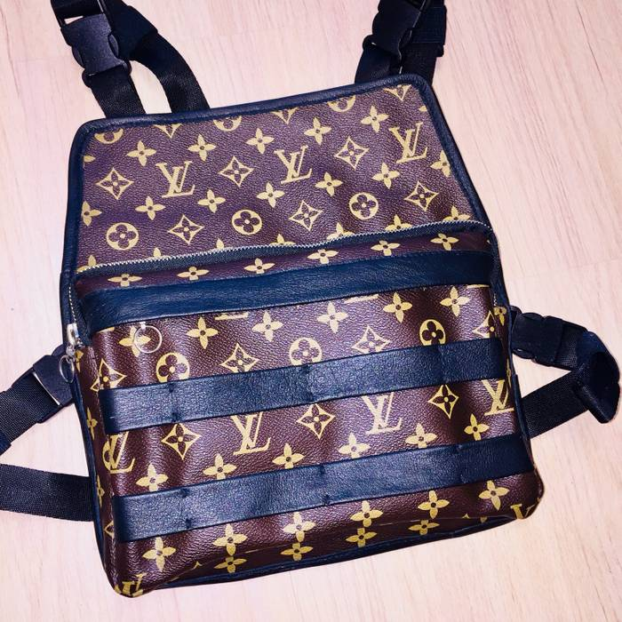3a184a772595 Louis Vuitton Custom Tailor Made Chest Rig Real Leather And Louis Vuitton  Canvas Original Monogram RARE ...