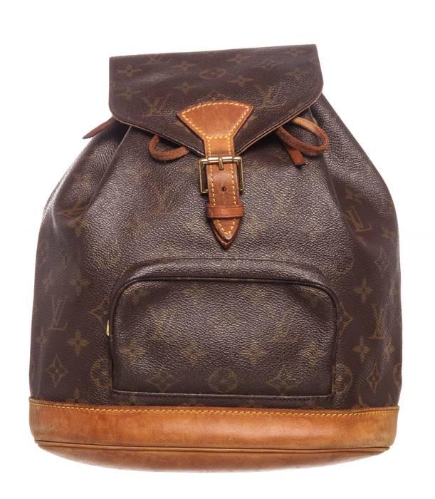 b51a118723c50 Louis Vuitton. Louis Vuitton Monogram Canvas Leather Montsouris MM Backpack  Bag 10320MSC