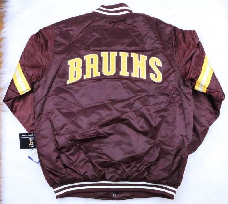 Starter Boston Bruins STARTER Retro Satin Snap Jacket 99ac62d4b