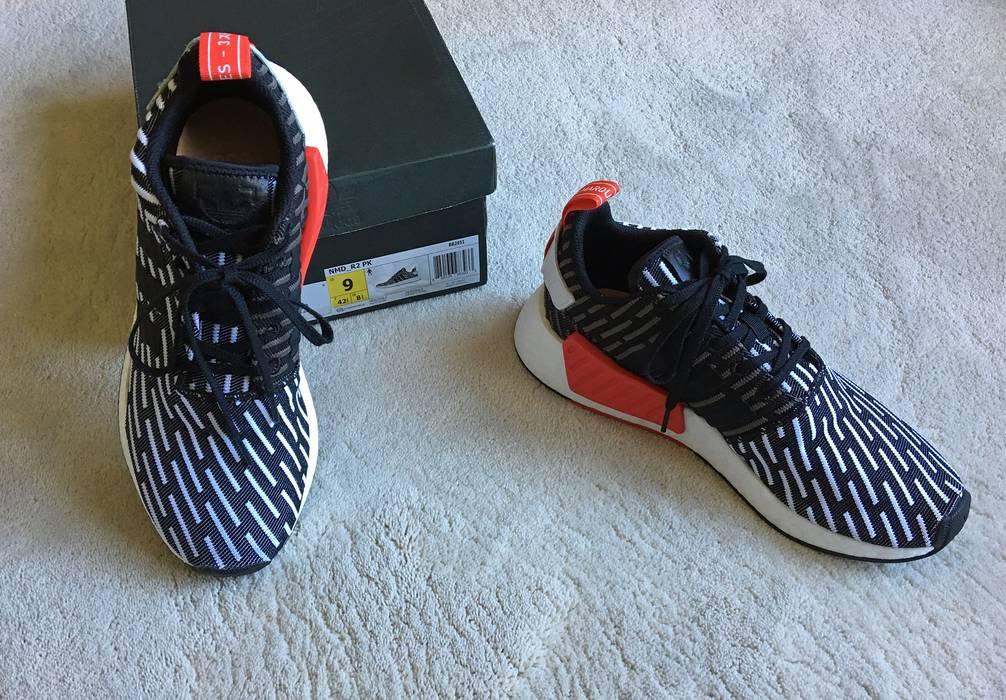 e9f68e5e34ddf Adidas ADIDAS Originals NMD R2 Primeknit SNEAKERS bk wh red SIZE 9 Size US