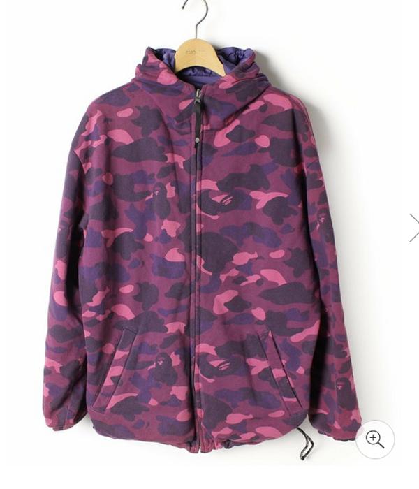 7c2e76c04727 Bape Purple Camo Reversible jacket Size m - Raincoats for Sale - Grailed