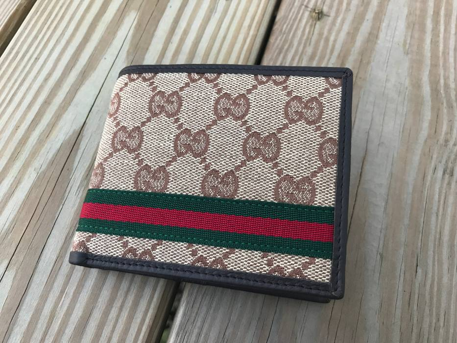 a47bd4c9f78 Gucci Gucci Men s Wallet GG web Money Clip Bi Fold Card Holder Men s Purse  Size ONE
