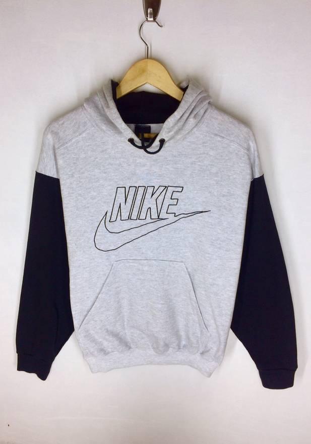 Rare!! Vintage Nike Big Logo Sweatshirt Nice Design Large size XrA4op