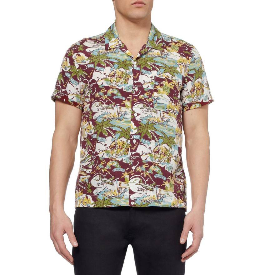 Cheap Sale Amazing Price Outlet Locations Cheap Price Sandro Printed Short Sleeve Top 8uQBKXeV