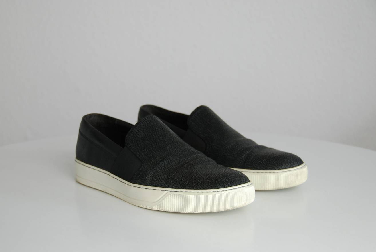 buy cheap shop store Lanvin Ponyhair Slip-On Sneakers fake for sale 4XYq2G