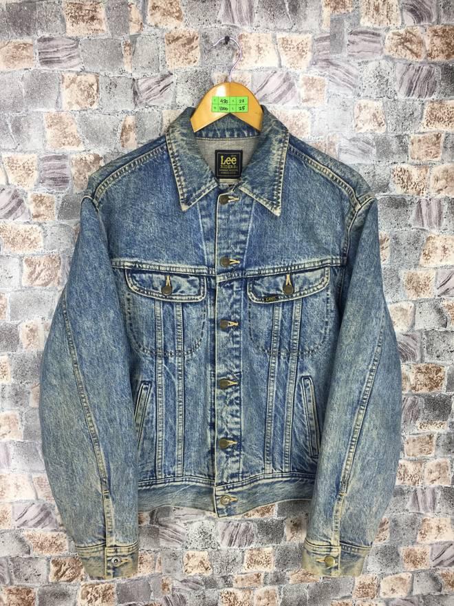 LEE RIDERS USA Denim Jeans Jacket Xlarge Vintage Jeans Trucker 90s Lee Hipster Jacket Denim Blue Jeans Jacket Button Size Xl HPNYi