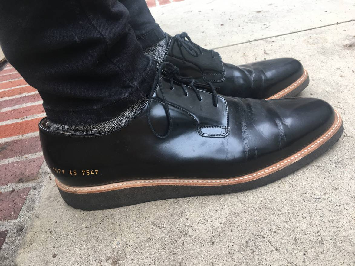 Common Projects Black Shine Derbys h4sdUzMt