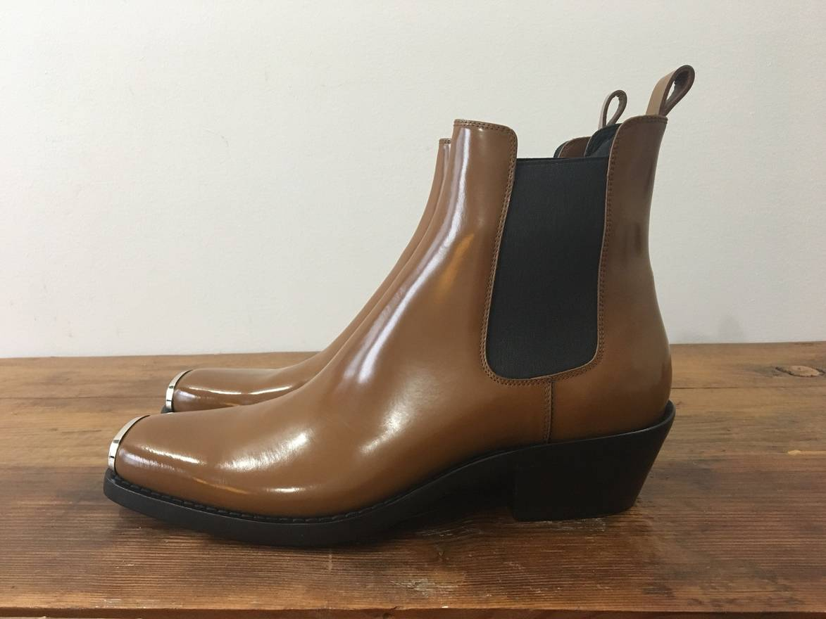 Calvin Klein WESTERN CHRIS LEATHER ANKLE BOOTS 8Wwf2NZddA