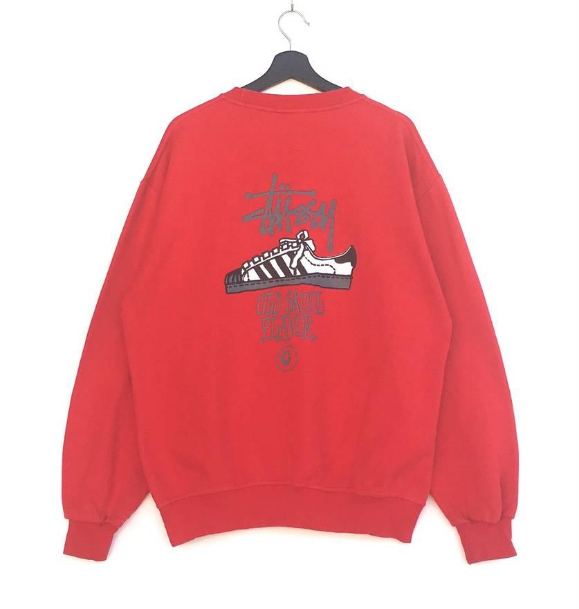 Vintage Rare! STUSSY hoodie jumper sweatshirt M8tSucyHPv