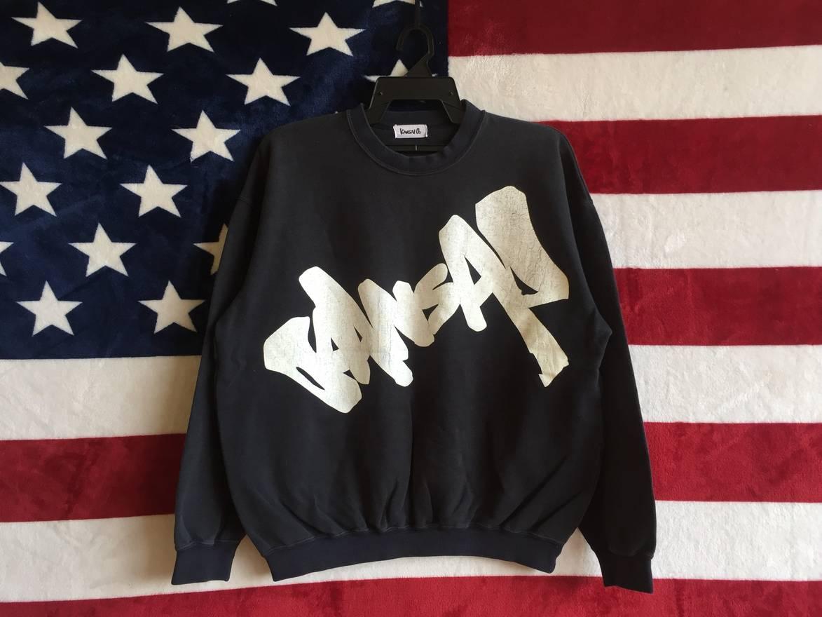 Rare!!Vintage 90s kansai sports kansai yamamoto sweatshirt big logo size XL dIh5kUY1zD