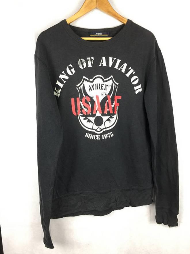 Avirex varsity sweatshirt with big logo ApTC0WqZ