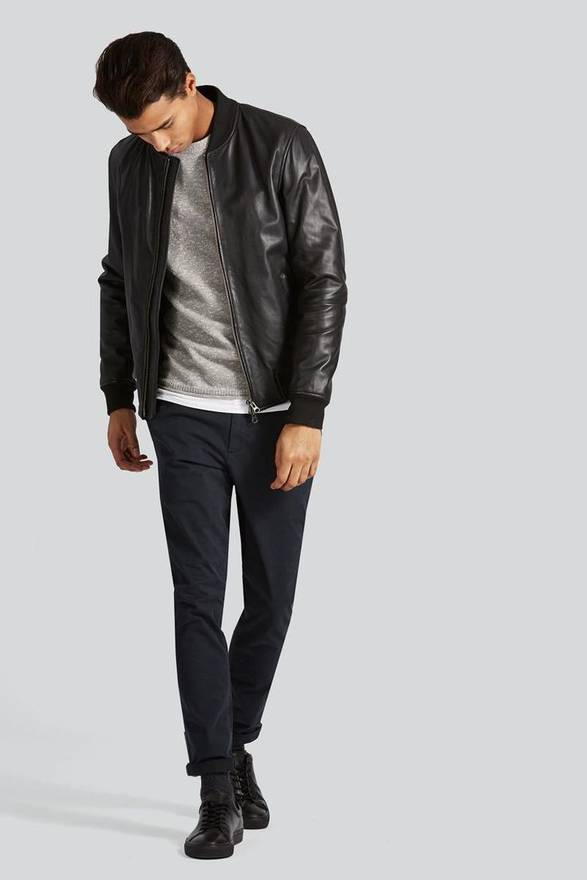 OAK Leather Bomber Jacket 2018 New Cheap Buy Authentic From China Sale Online YlcaMa