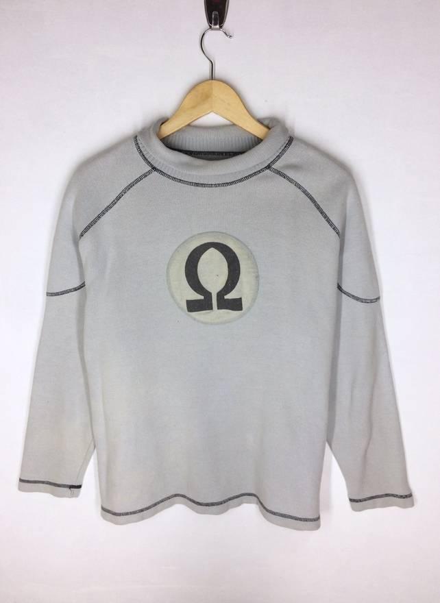 Rare Design Armani Jeans Big Logo Knitwear Sweatshirt 2UV4xZK5l