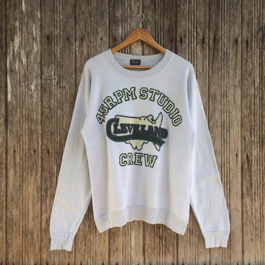 Rare!! 45rpm Studio Japan Designer Sweatshirt Jumper Pullover Medium size Pp8EU9M0