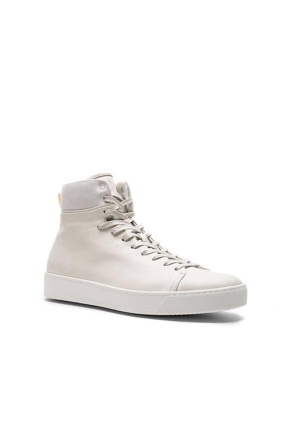 Affordable For Sale John Elliott + Co Leather High Top in White Clearance Finishline For Sale G8tQtU