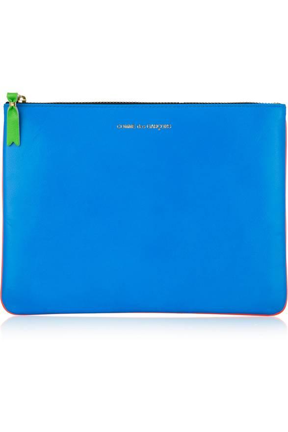 Comme Des Garçons Super Fluo Small Pouch In Blue,orange,neon