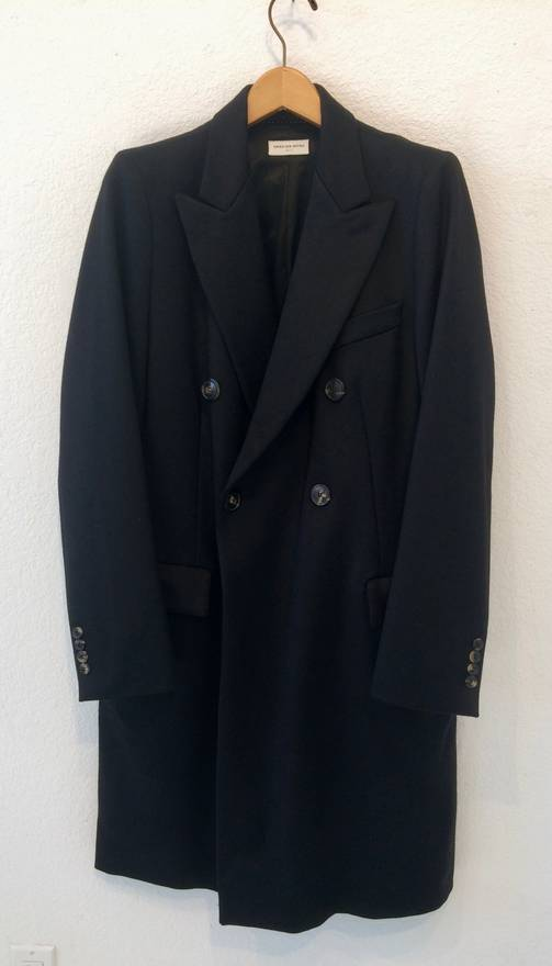 Dries Van Noten Double-Breasted Long Coat Prices Online Free Shipping Pre Order Buy Cheap Sneakernews In China Sale Online 44l7jLxH