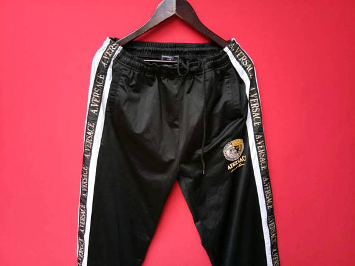 vintage versace sweatpants sports track pants rare original streetwear jogging athletic pants q4mmFt