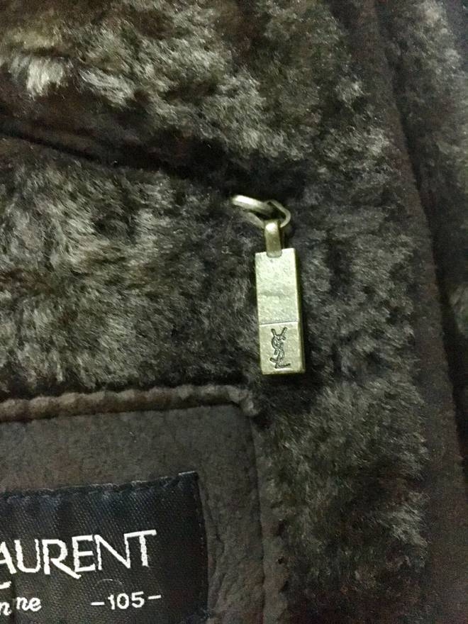 Jacket Shearling Pour Leather Sheepskin L Ysl Homme Size FwIa71a8q