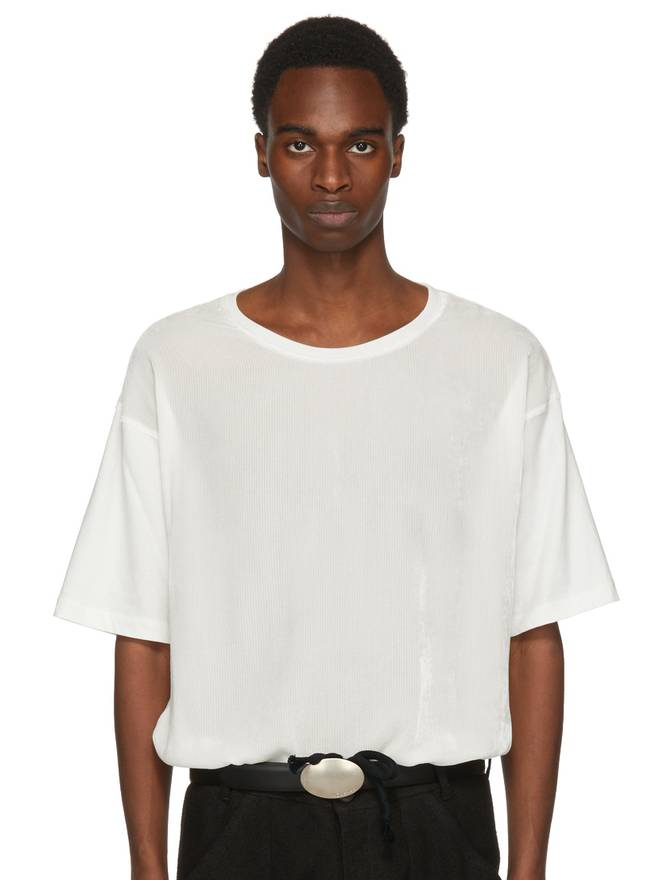Off-White Berber T-Shirt Ann Demeulemeester 2018 Cheap Online Outlet Inexpensive Outlet Popular Low Cost Sale Online Buy Cheap High Quality LktNY