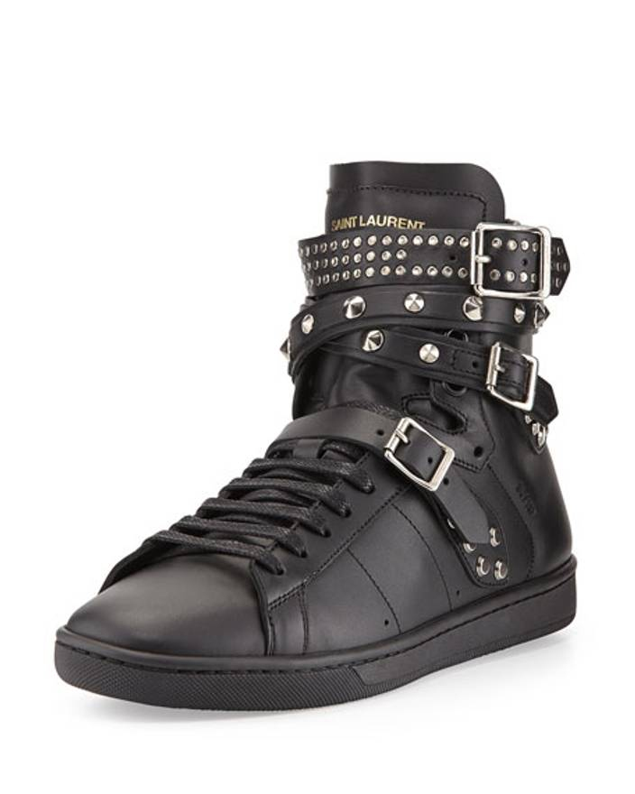 Clearance Store Sale Online Buy Cheap Nicekicks Saint Laurent SL/16H Studded Sneakers IlW9Ix3yCr