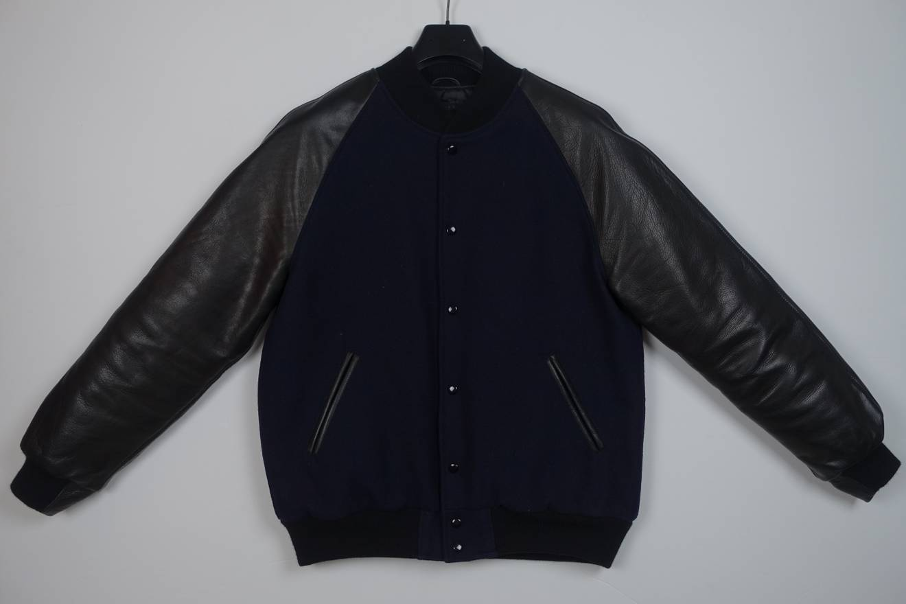 Unis Raglan Quilted Wool Varsity Jacket Fw13 Size Xl Leather