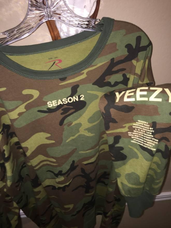 Kanye west yeezy season 2 invite longsleeve size xxl for sale kanye west yeezy season 2 invite longsleeve size us xxl eu 58 5 stopboris Images