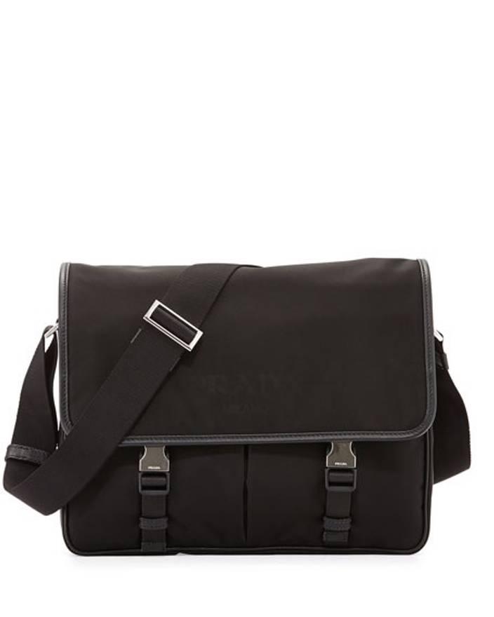 4bc93285fb71 ... new zealand prada black nylon backpack prada messenger bag size one  size 381d1 556e8