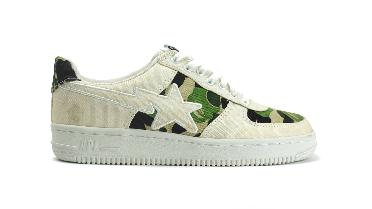 1b5f550786f6 ... ABC Camo Version Bape A Bathing Ape - Green Camo Canvas Bapesta US 8.5  Size US 8.5 EU .