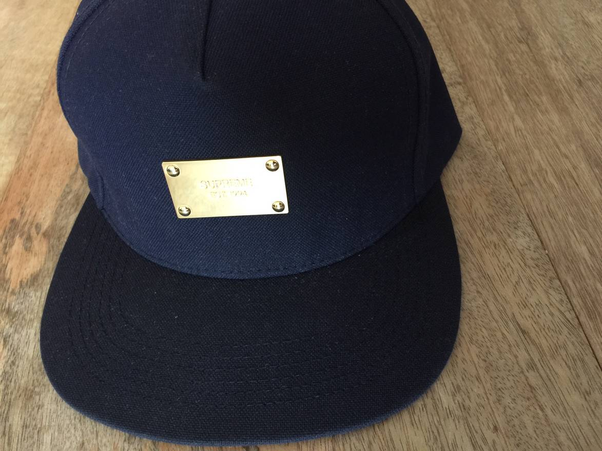 bb1c8f3d sale supreme gold plate 5 panel hat size one size 44886 ce516