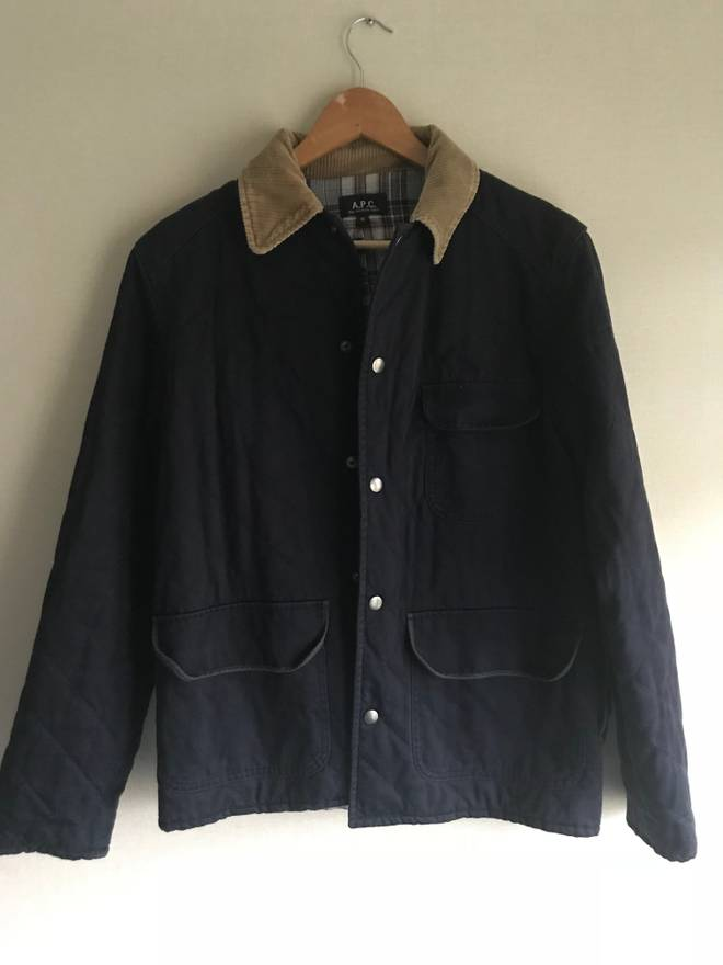 Apc Apc Navy Quilted Hunting Jacket Size M Light Jackets For