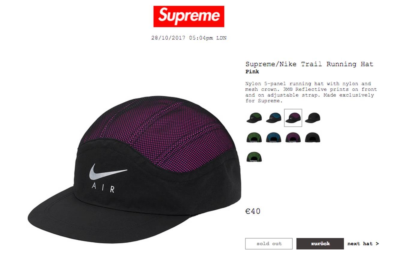 b36556c4 ... uk supreme supreme nike trail running hat size one size 4839e 8dfdd  switzerland supreme x ...