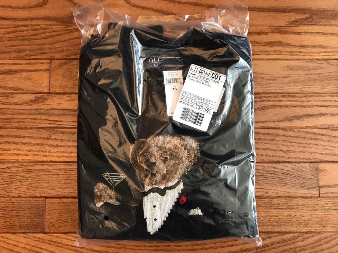 f473beea8b341 Lyst - Ralph Lauren Polo Bear Fleece Pullover Hoodie in Black .