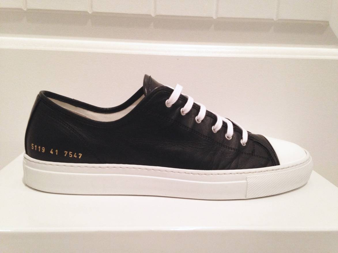 COMMON PROJECTS Canvas Tournament Low Cap Toe Sneakers