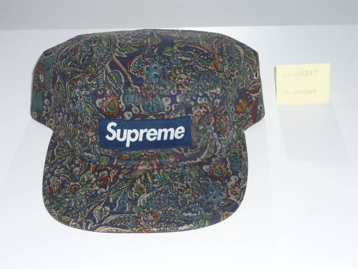 7ca1f9b8b49 ... store supreme navy paisley camp cap size one size eef40 f5195
